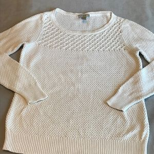 Ann Taylor Loft Ivory Knit Sweater